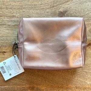 YSL Metallic Pink Cosmetic Bag